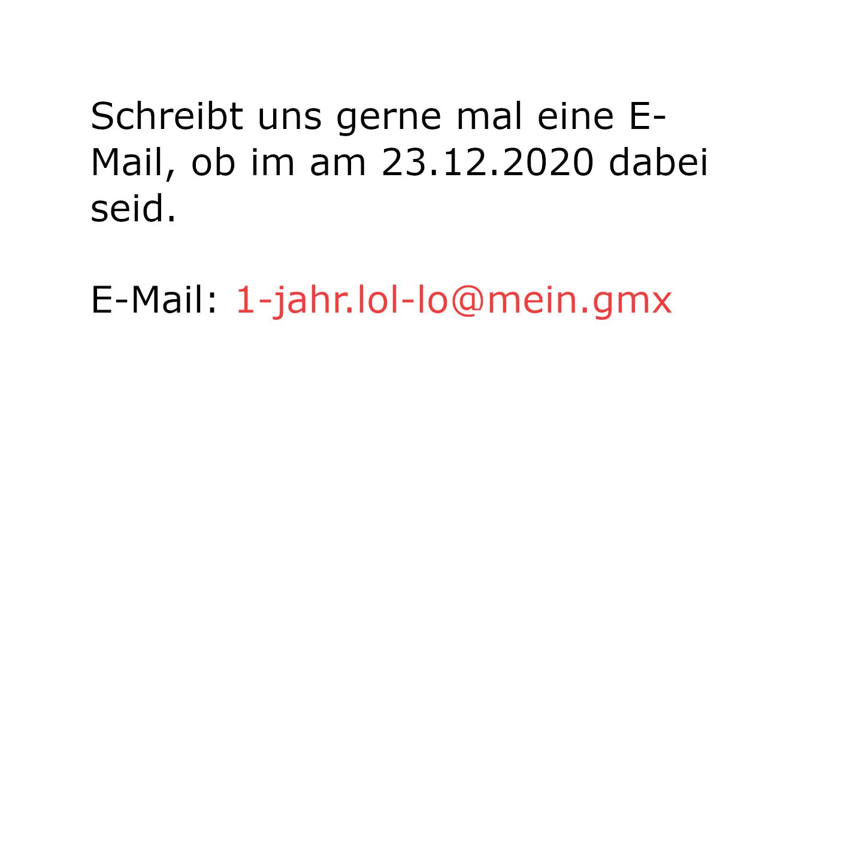 E-Mail ein Jahr Lol & Lo